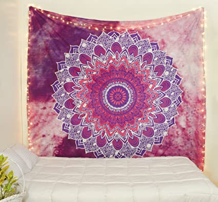 Amazon Com Popular Handicrafts Kp843 Hippie Mandala Tapestry Hippie