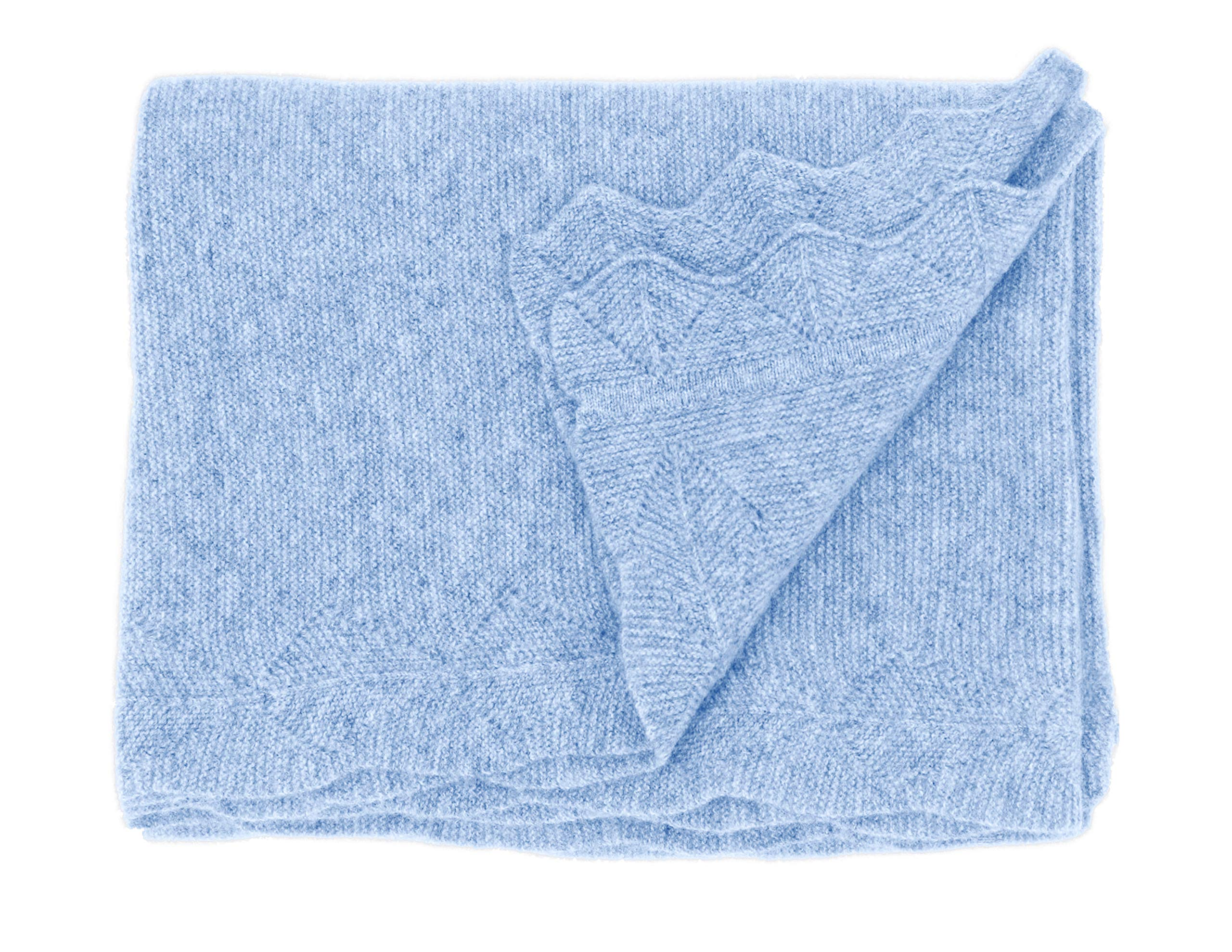State Cashmere Luxe Stroller Baby Blanket 100% Pure Cashmere Travel Wrap • 40 x 30 inches by State Cashmere