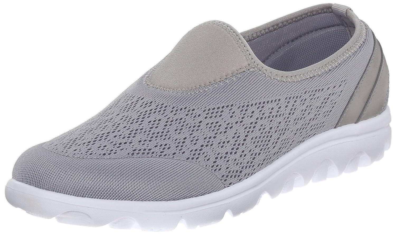 Propet Women's TravelActiv Slip-On Fashion Sneaker B0118G9RN0 12 2E US|Silver