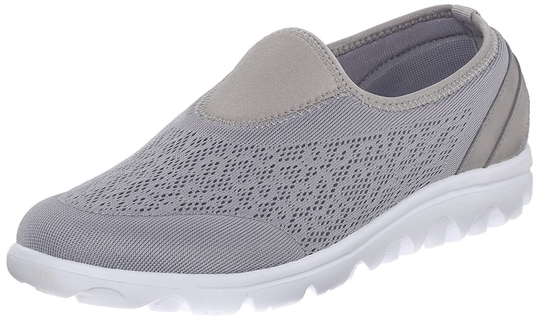 Propet Women's TravelActiv Slip-On Fashion Sneaker B0118GGMY2 8.5 2E US|Silver