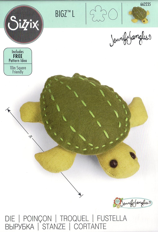 Turtle Sizzix Bigz L Die By Jennifer Jangles
