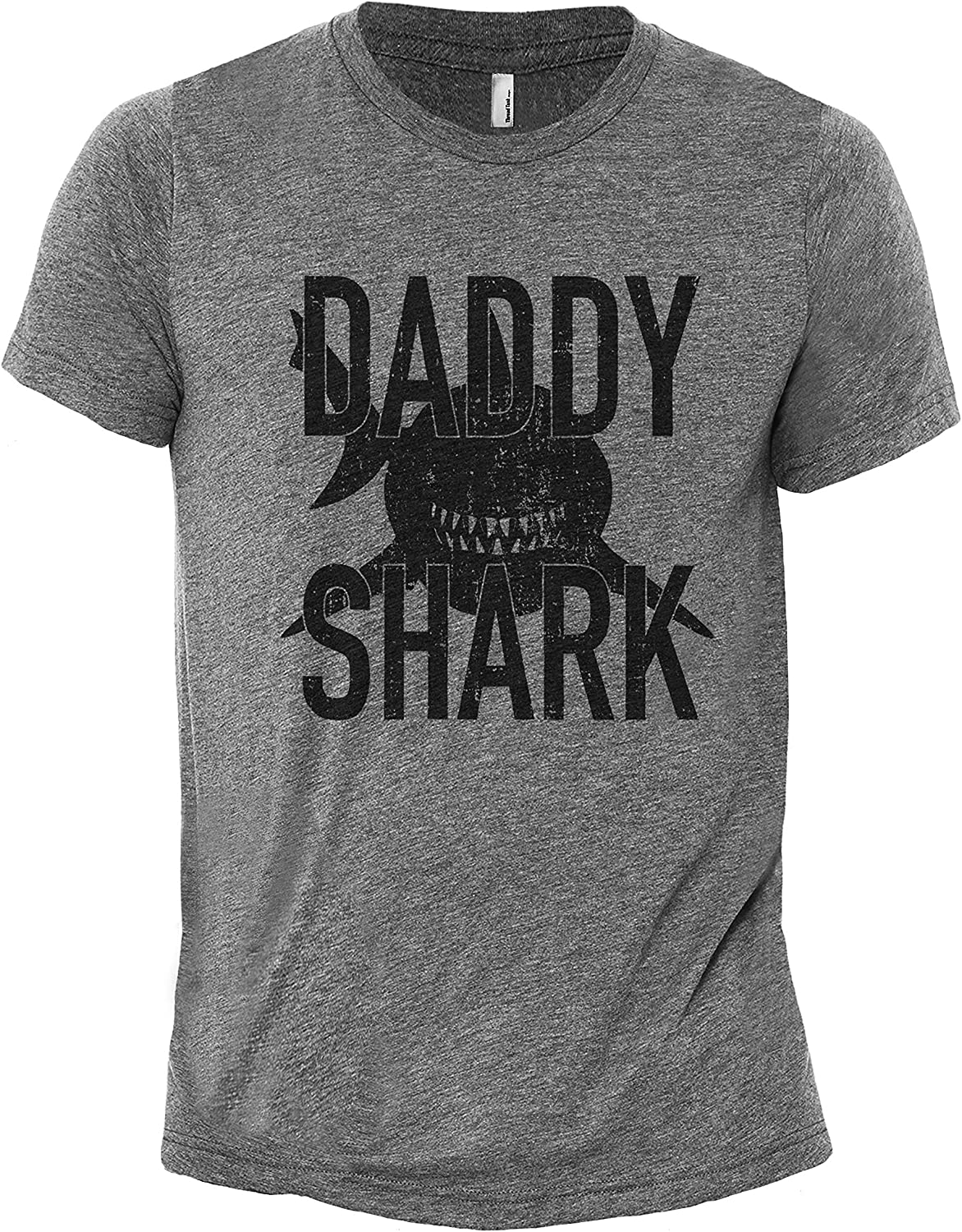 Daddy Shark Men's Crewneck Casual Fit T-Shirt Printed Graphic Tee