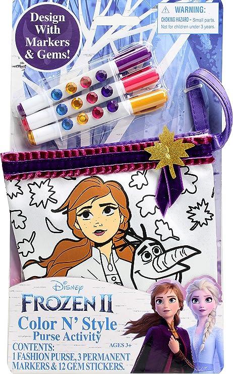 Tara Disney Frozen Color N/' Style Fashion Purse Activity w Permanent Markers