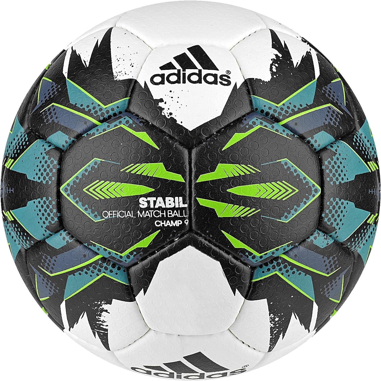 Adidas Stabil Champ9 - Ballon de Handball, Couleur Blanc, Taille 3 AP1562