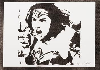 Wonder Woman Justice League Handmade Street Art - Artwork - Poster