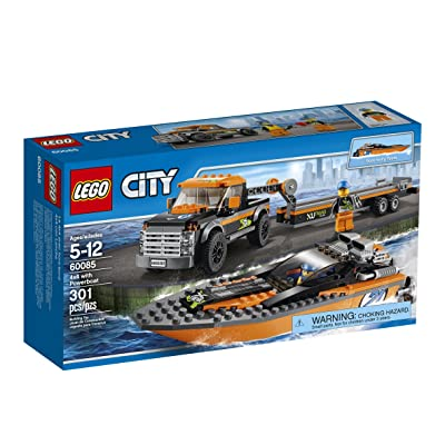 LEGO City Great Vehicles 4x4 with Powerboat: Toys & Games