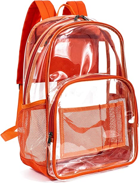2019 Heavy Duty Clear Backpack Transparent Bag Student