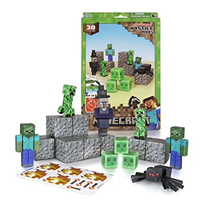 Minecraft Papercraft Hostile Mobs Set, Over 30 Piece: Toys & Games