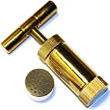 T Press Tool 3.5 Inches Engineered Brass Cylinder Heavy Duty Metal T Shape, Spice Pollen Tincture Crusher - Gold color