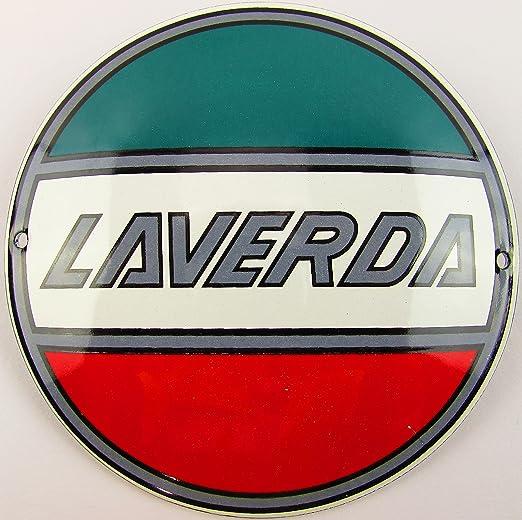 NUEVO esmalte Cartel Laverda 12 cm redondo, Classic ...