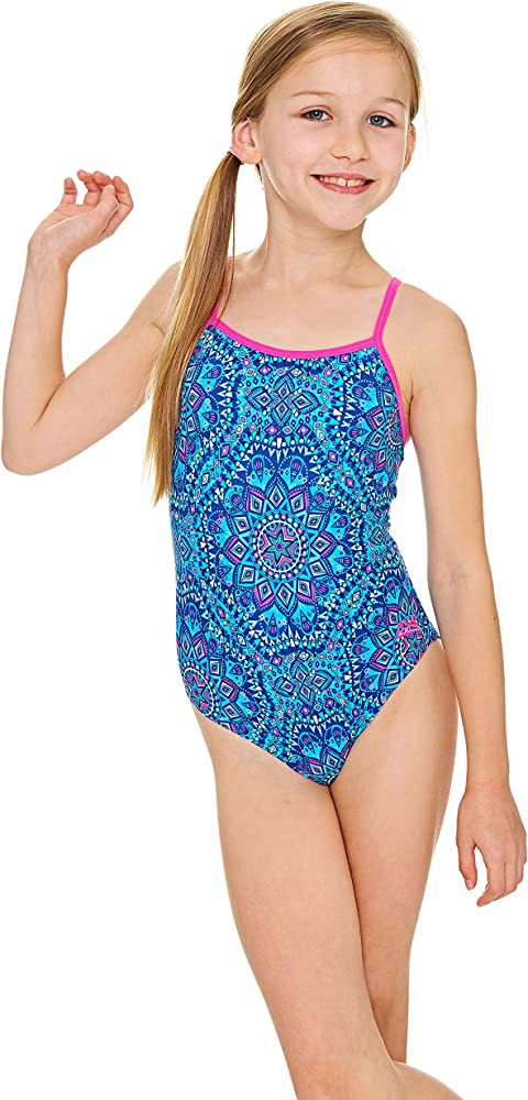 Zoggs Girls Bold Baroque Yaroomba Floral Swimsuit