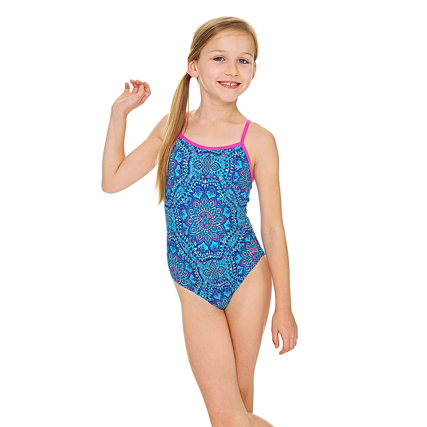 Zoggs Girls' Native Spirit Yaroomba Floral Swimsuit