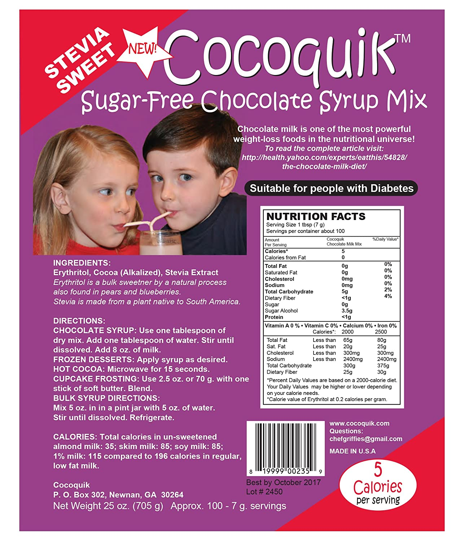 Amazon.com : Cocoquik Sugar-free, Stevia Sweet, Chocolate Syrup ...