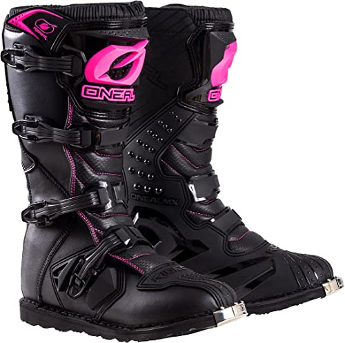 O'Neal 0325-708 Womens New Logo Rider Boot (Black/Pink, Size 8)