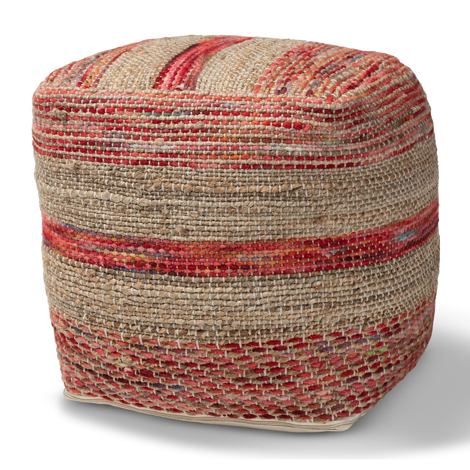 Baxton Studio Ottomans, One Size, Multi/Natural by Baxton Studio
