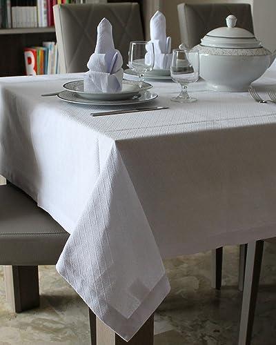 Manteles y servilletas de algodón 100% - diseño GEOMETRICO: Amazon.es: Handmade