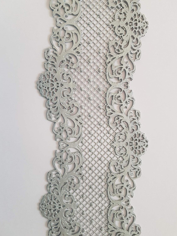 dise/ño de flores 29.5 x 9 cm blanco Cenefa decorativa comestible para tartas