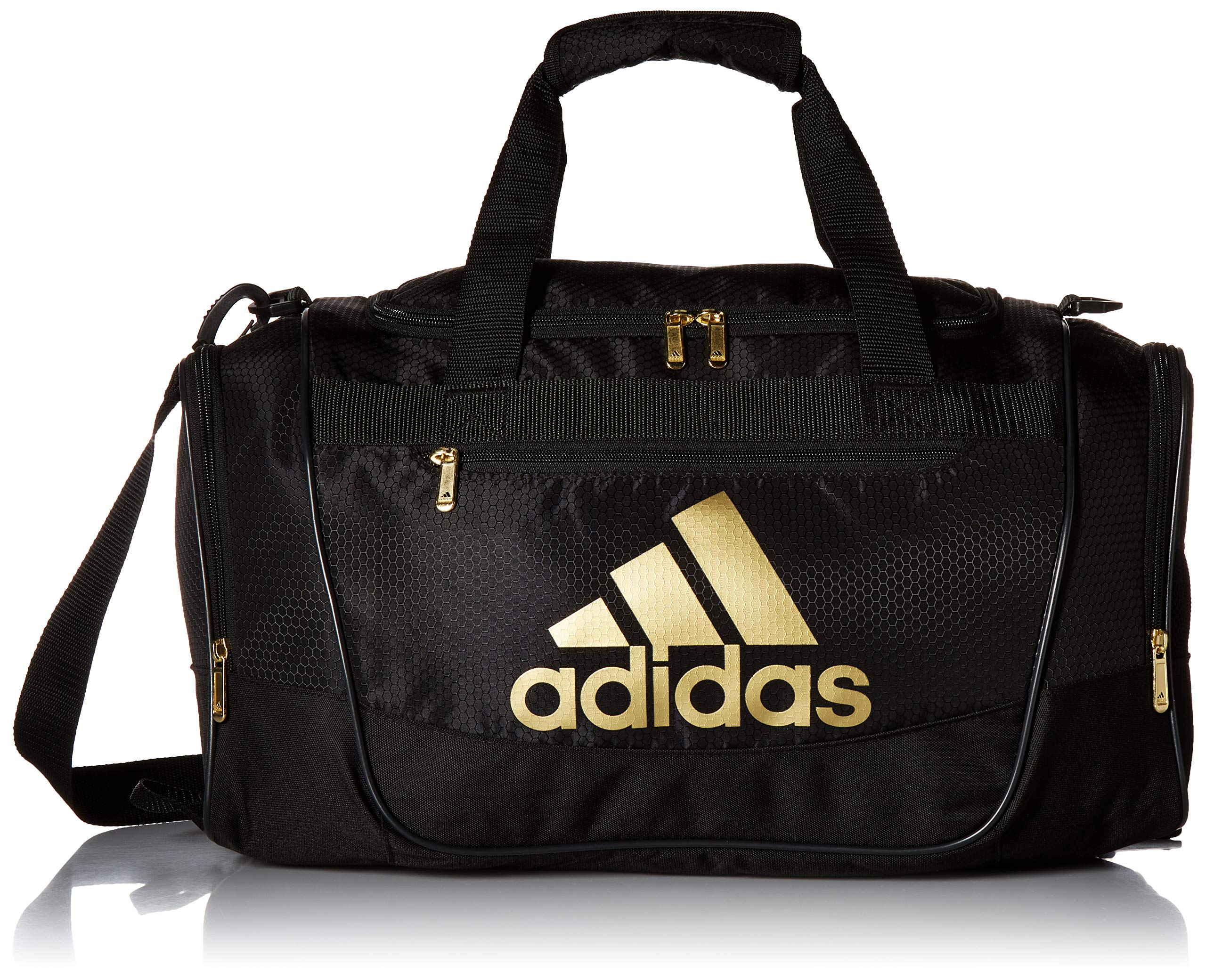 adidas Defender Iii Small Duffel, Black/Gold, One Size