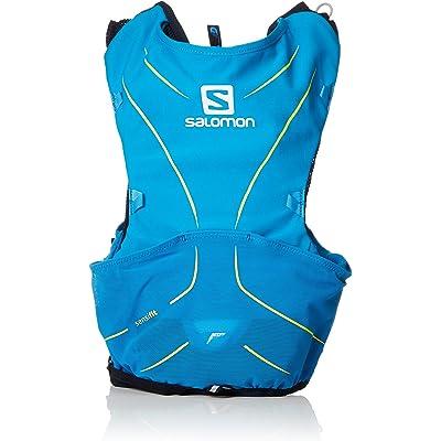 Salomon ADV SKIN 5 SET Mochila ligera de hidratación para corriendo/senderismo, capacidad 5 L, Unisex adulto, Azul (Hawaiian Surf/Night Sky), XXS