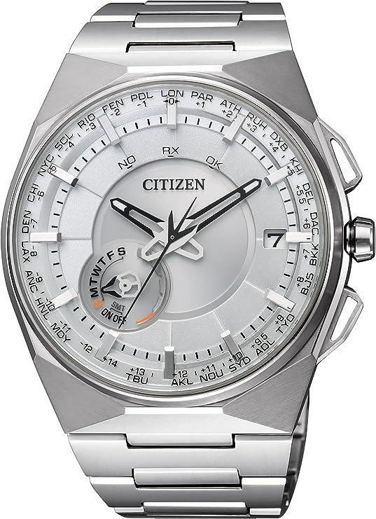 [シチズン] 腕時計 Eco-Drive SATELLITE-WAVE F100 エコ・ドライブ 40タイムゾーン対応 薄型 サテライトウェーブダイレクトフライト針表示式フラグシップモデル 衛星電波受信 CC2001-57A シルバー