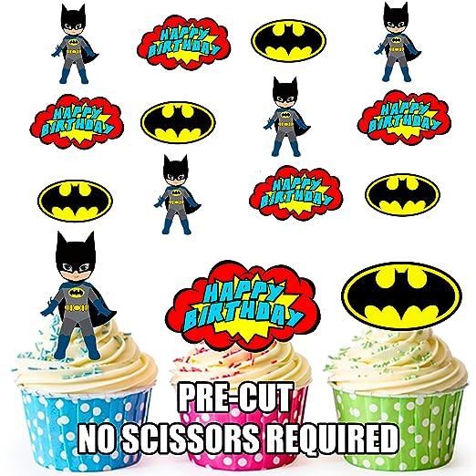 Precortado Batman superhéroe feliz cumpleaños Pack ...