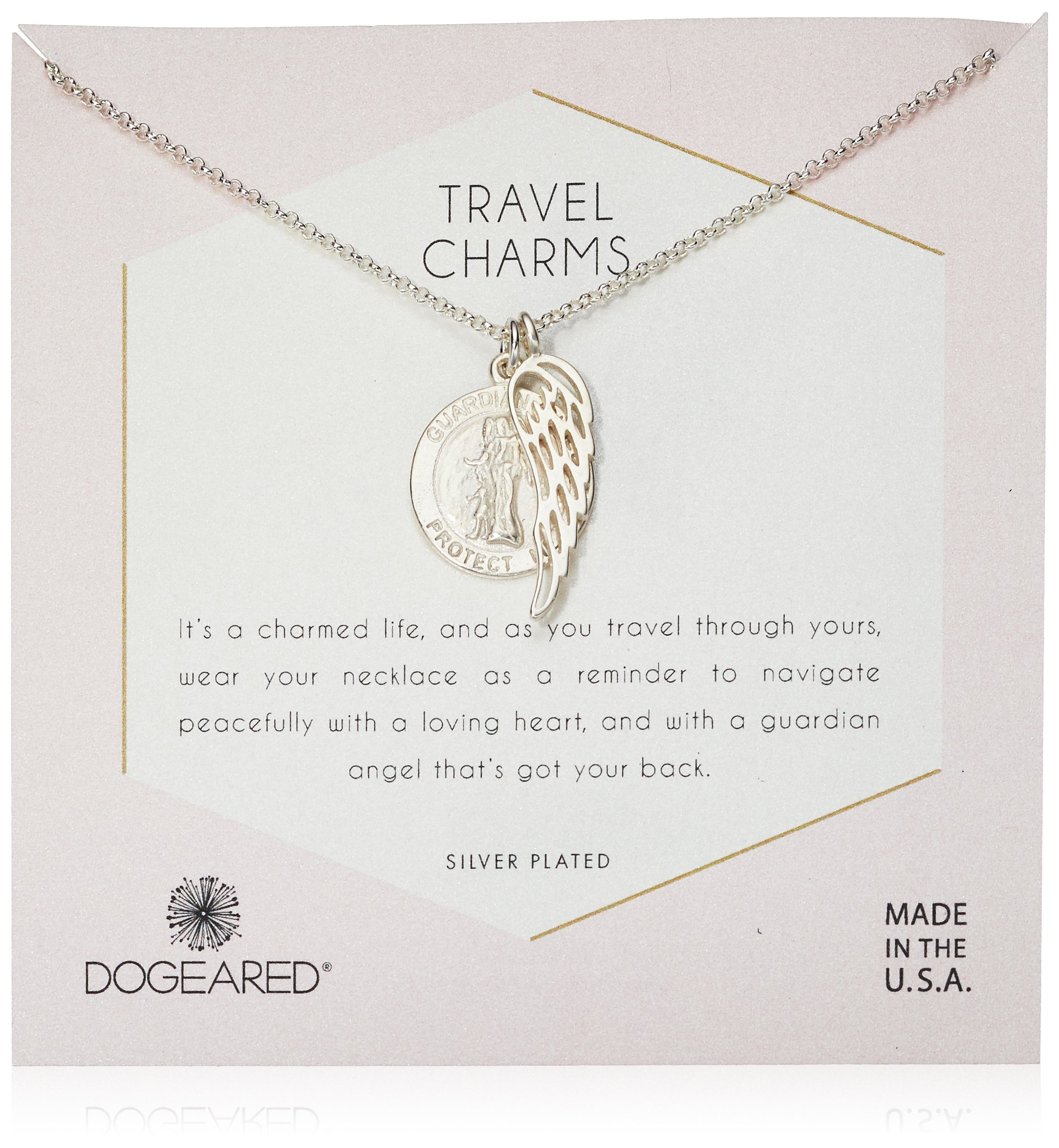Dogeared Women's Silver Travel Charms Chain Necklace