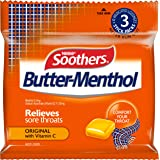 SOOTHERS Butter-Menthol Sore Throat Lozenges 30 Pack, 120g