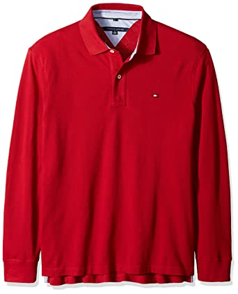 ce127c2ed5d Amazon.com  Tommy Hilfiger Men s Big   Tall Long Sleeve Tommy Polo Shirt