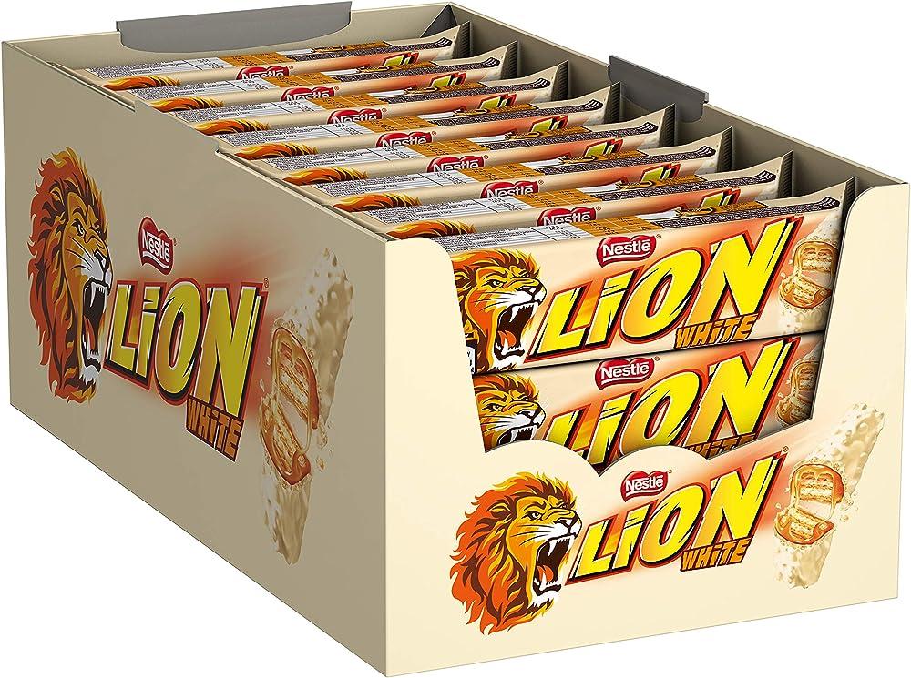 Lion single white 24pcs