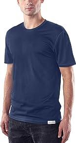 Woolly Clothing Men's Merino Short Sleeve Crew Neck - Moisture Wicking, Anti-Odor, Casual Athletic wear