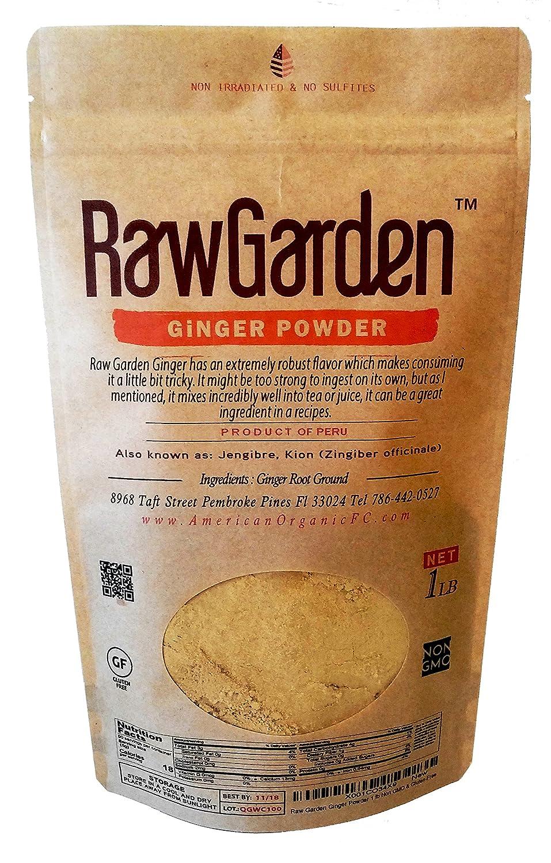 Amazon.com : Raw Garden Ginger Powder Non-sulfited & Non GMO, Gluten ...