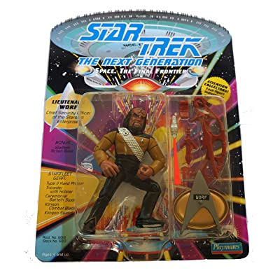 Star Trek Next Generation Lieutenant Worf 1992 Action Figure: Toys & Games