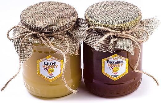Miel de Alforfon + Tile con Polaco. 2 pack. Sin pasteurizar, miel cruda y orgánica BIO. 2 kg. Miel polaco directamente del apicultor.: Amazon.es: Hogar