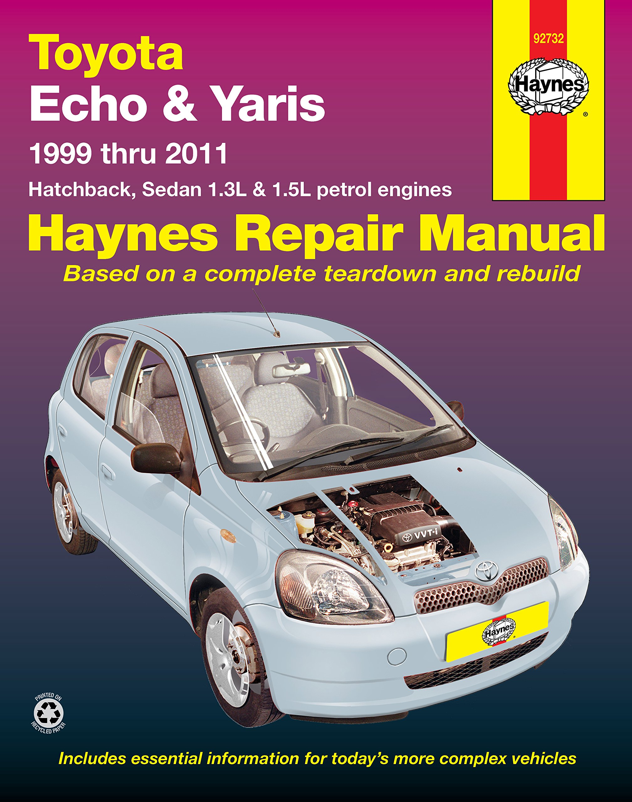 Toyota Echo/Yaris Automotive Repair Manual: 1999-2011: Haynes Publishing:  9781620921364: Textbooks: Amazon Canada