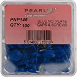 Pearl PNP146 - Tornillos y tapas para matrículas, color azul