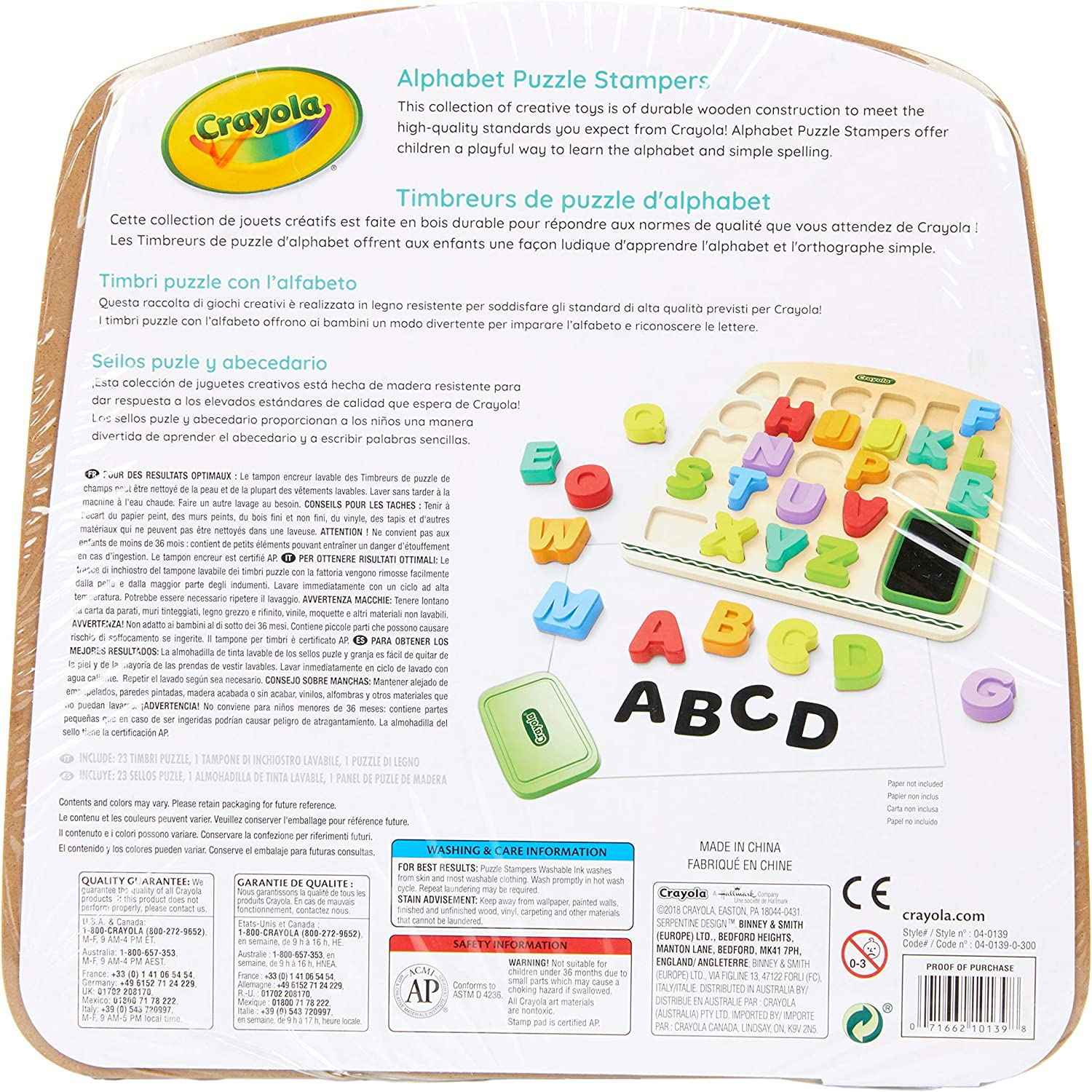 Educational Toy Gift Crayola Wooden Dry Erase Board /& Activities 16Piece