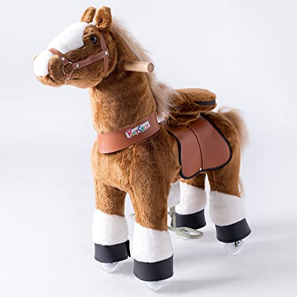 Official PonyCycle Brown With White Hoof Ride On Toy Horse Small 3-5 Years Old