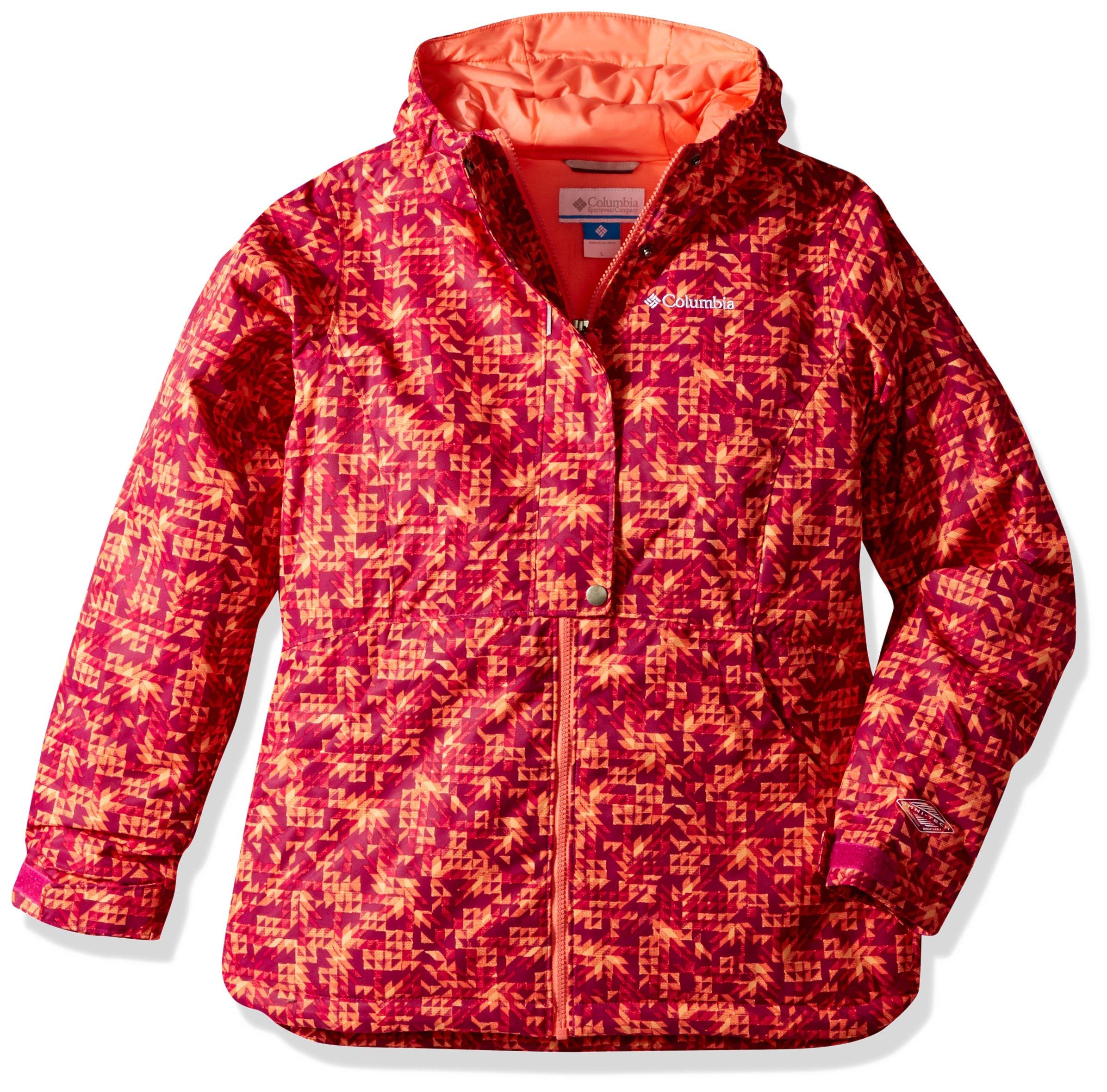 Columbia Girls Snowcation Nation Jacket, Deep Blush Checkers Print, Medium by Columbia