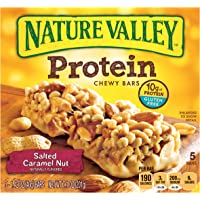 Nature Valley Chewy Protein Gluten Free Salted Caramel Nut 5 Bars (1.42 oz)