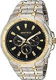 Armitron Men's 20/5144BKTT Multi-Function Dial Two-Tone Bracelet Watch
