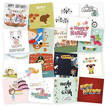 20 Kids Birthday Cards By Kyobo Assorted Birthday Cards 20 Various