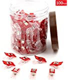 100-Pack Red All Purpose Craft Clips - Best for Sewing Clips, Quilting Clips, Crafters, Crochet, Knitting