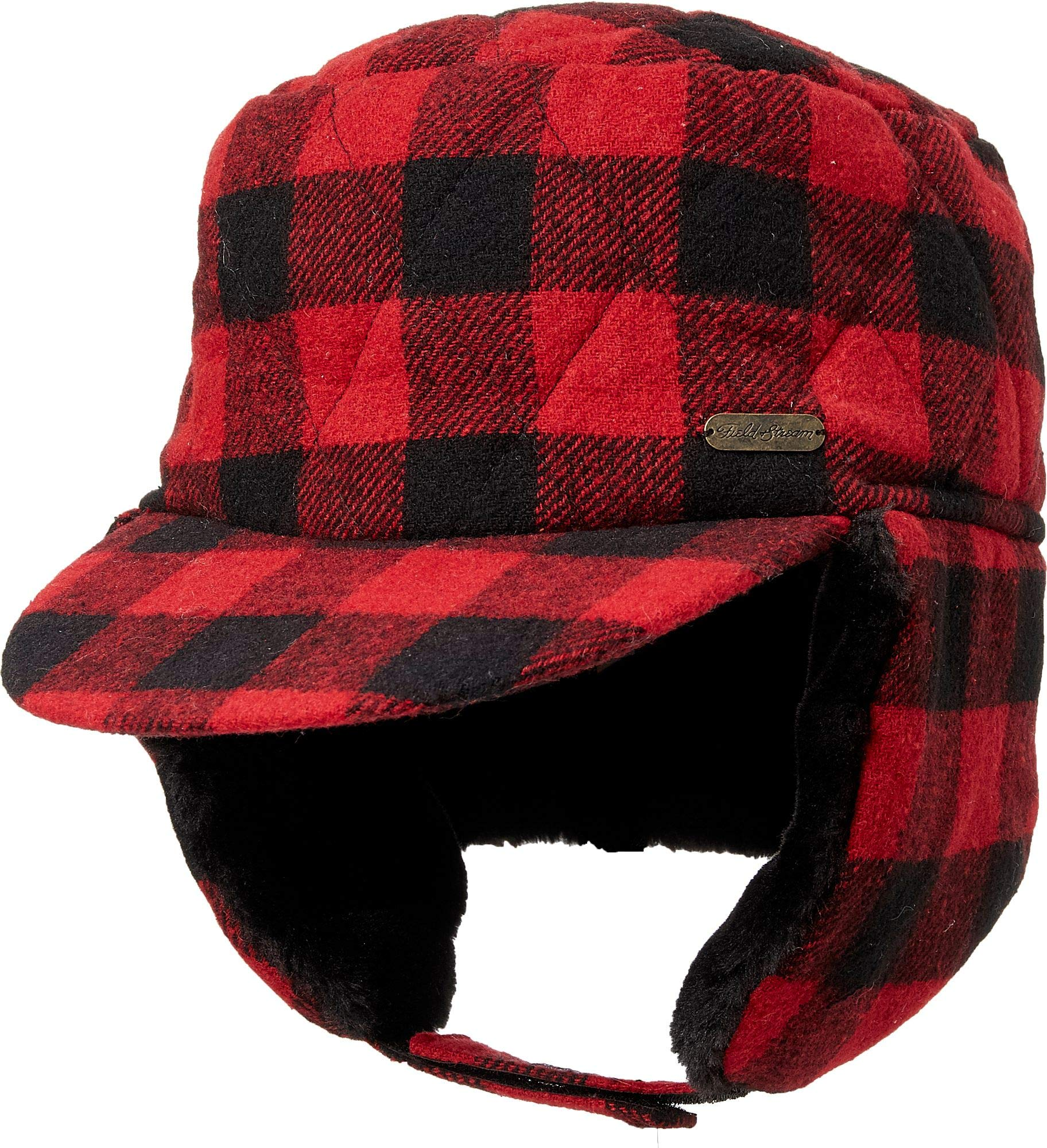 Field & Stream Men's Ear Flap Trapper Hat (Red, Medium/Large)