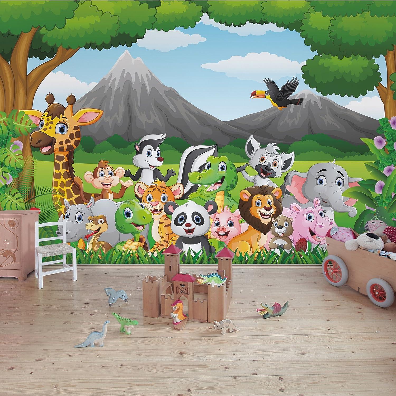 3D Wilder Löwe 425 Fototapeten Wandbild Fototapete Bild Tapete Familie Kinder
