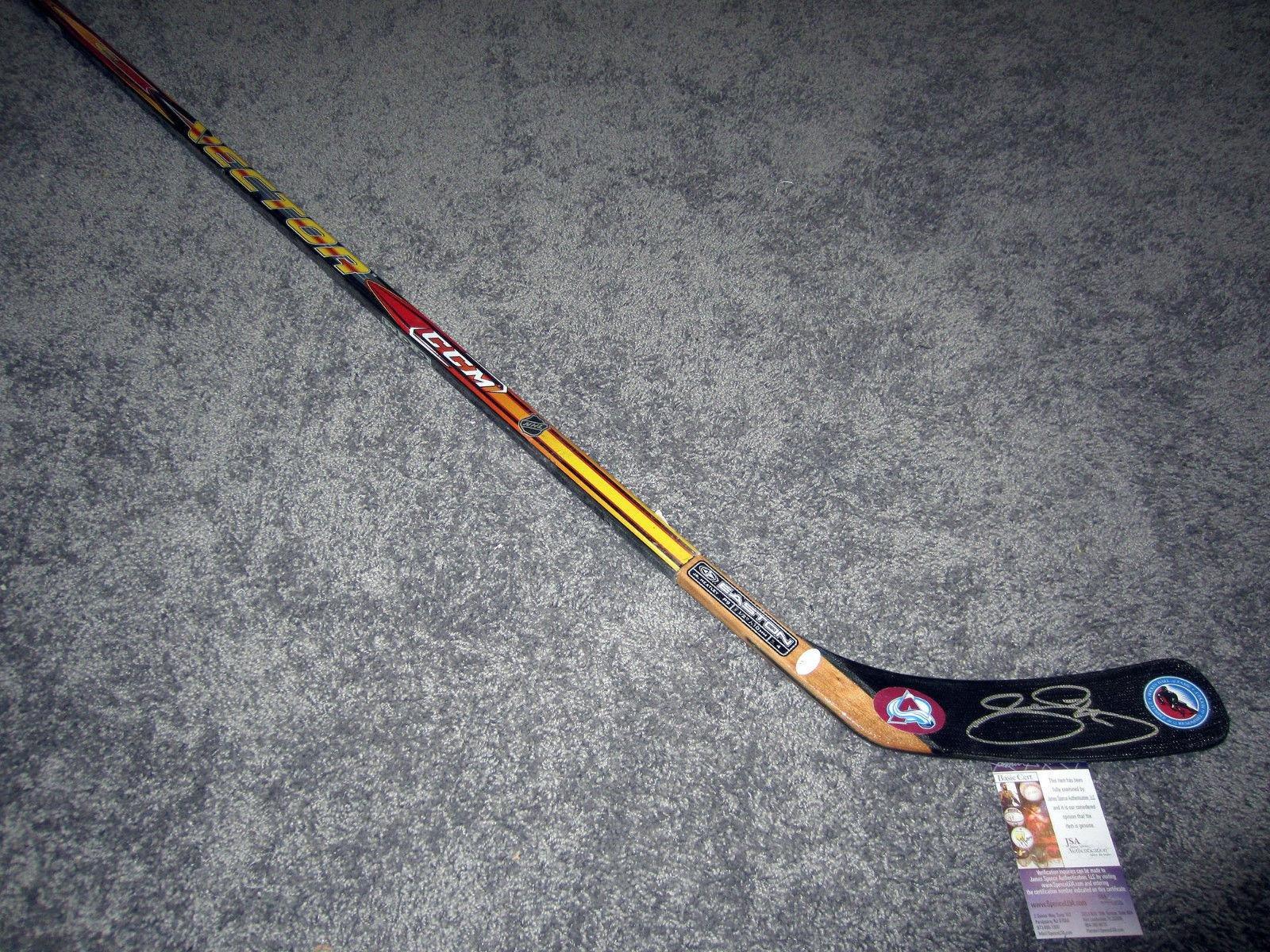 Joe Sakic Autographed Hockey Stick Hall of Fame w COA JSA Certified Autographed NHL Sticks