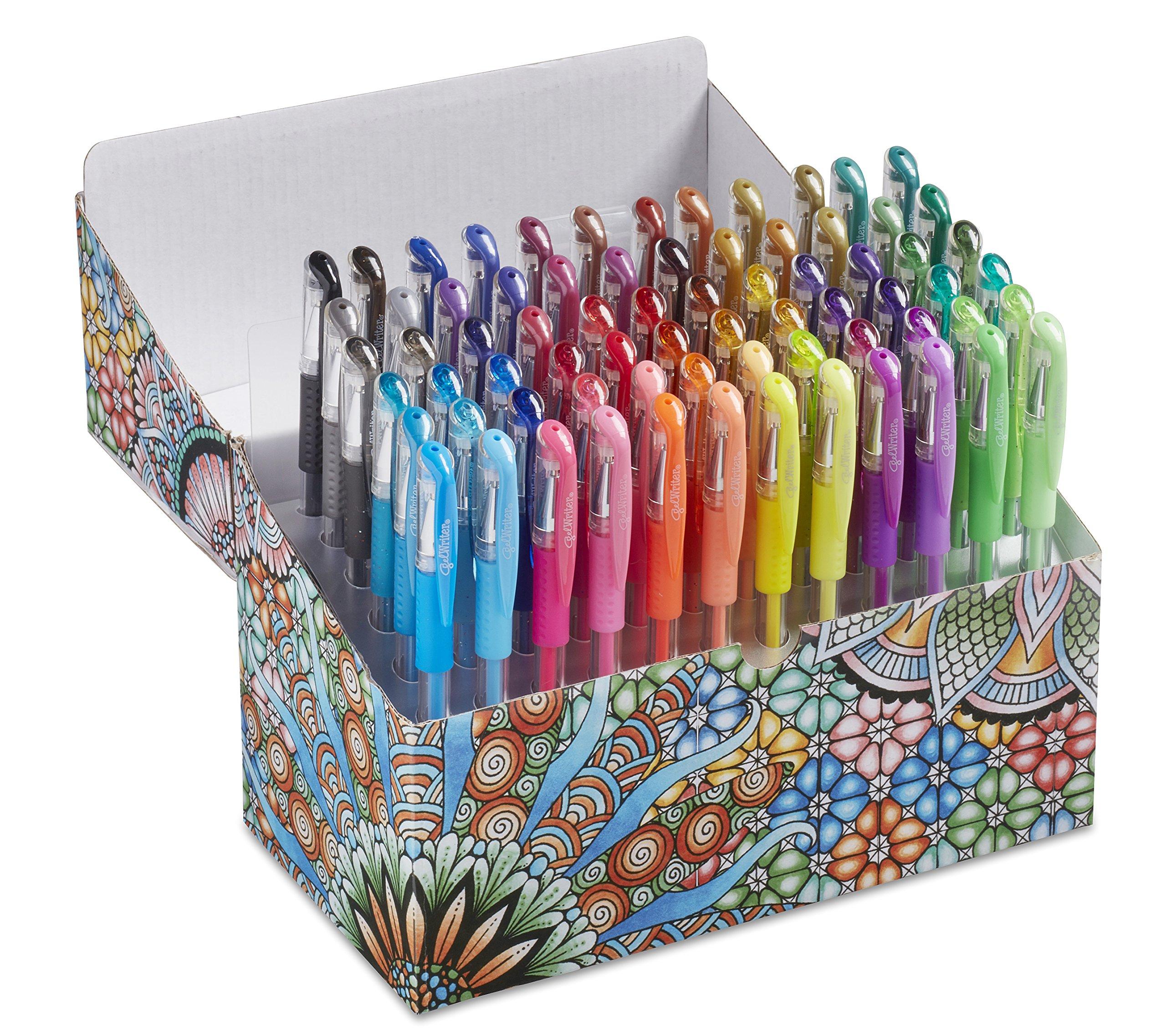 ECR4Kids GelWriter Gel Pens Set Premium Multicolor in Coloring Box (72-Count) by ECR4Kids