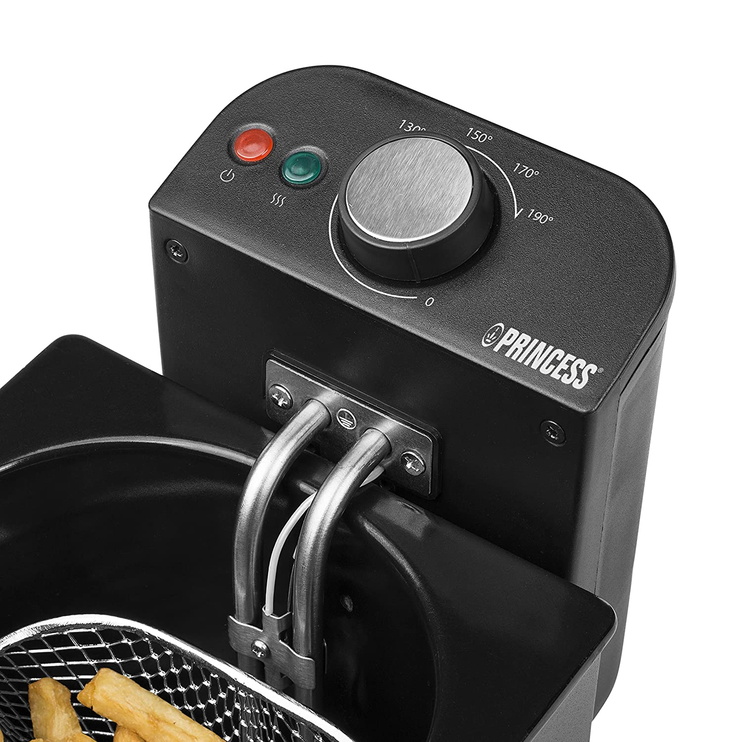 Princess 182725 Deep Fat Fryer - Freidora, zona fría, volumen de 2 litros, color negro: Amazon.es: Hogar