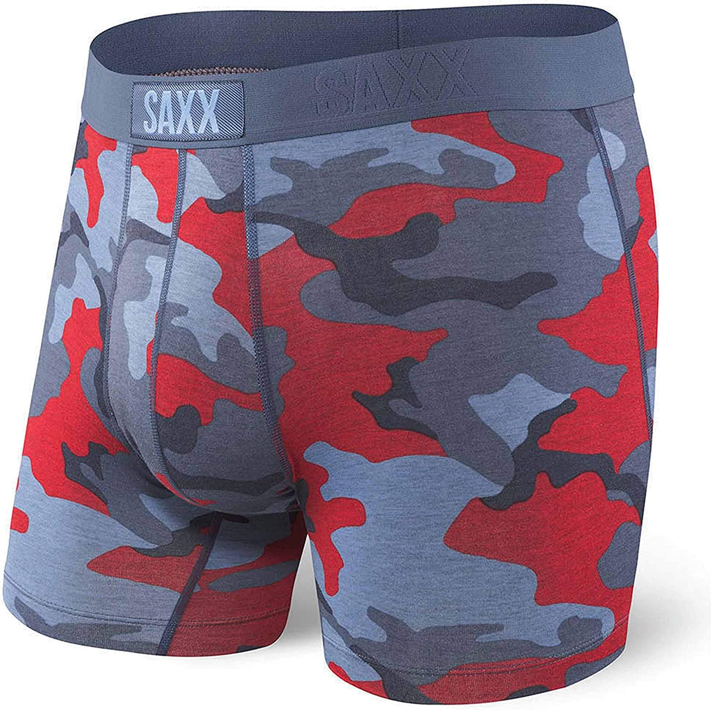 Saxx Vibe Boxer Brief Navy Hot Dog
