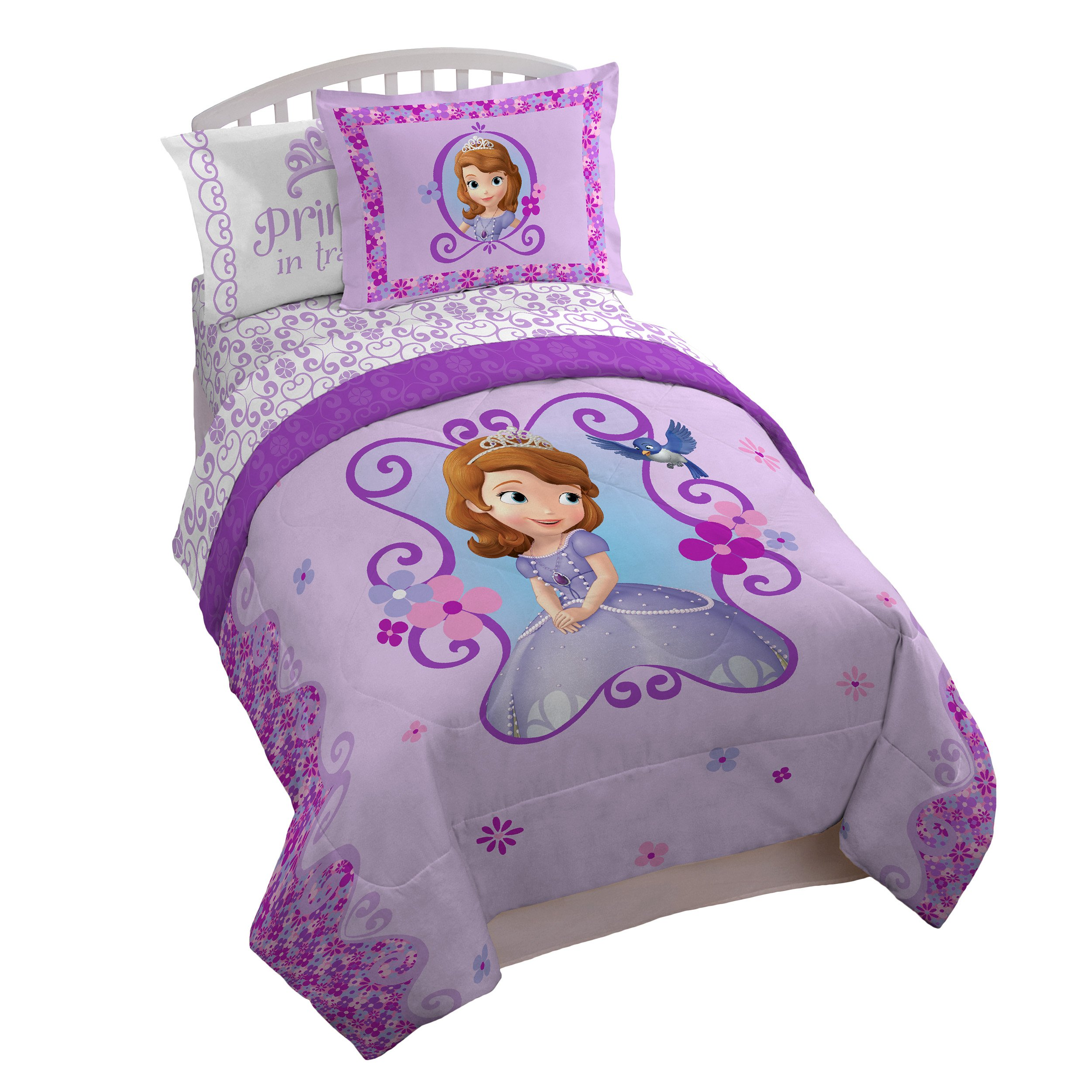 Disney Junior Sofia The First 'Floral Scroll' Twin/Full Reversible Comforter