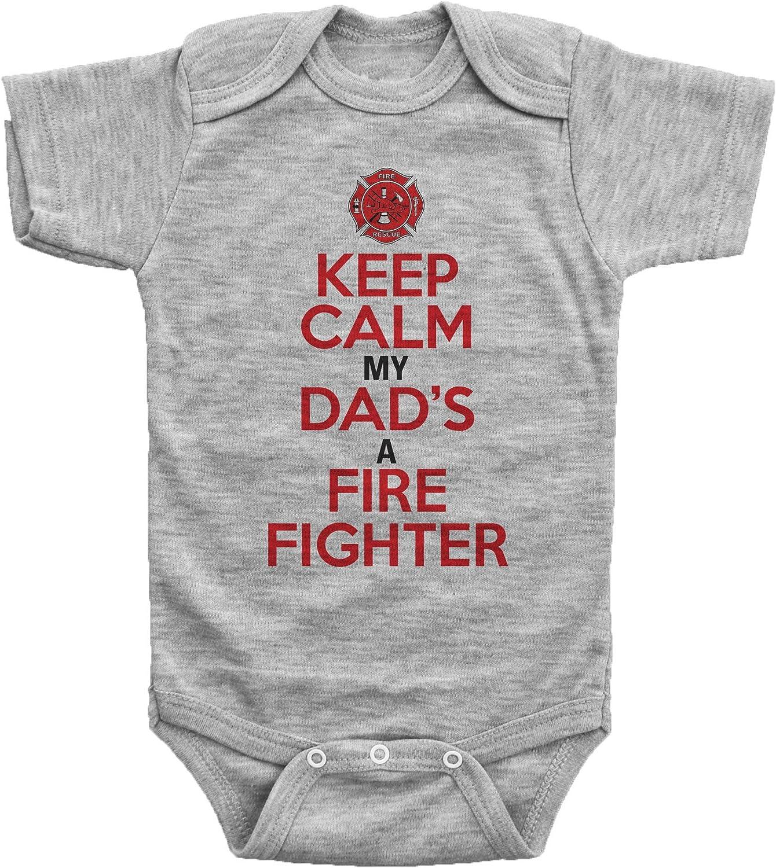 inktastic Firefighter Daddy Baby Gift Newborn Layette